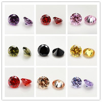 200pcs AAAAA 6.0mm Round Brilliant Golden,Pink,Black,Amethylst,Garnet,Champagne,Olive Green Cubic Zirconia Stone Loose