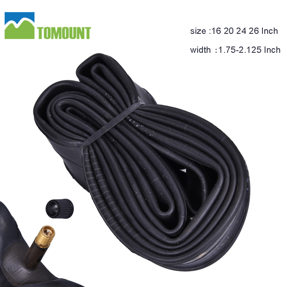 TOMOUNT Bicycle Inner Tube 16 20 24 26 inch 1.75/2.125 For Mountain Bike Bicycle Tire Cycling Tire Rubber Tube Wide Tire for MTB