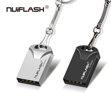 Nuiflash MINI pendrive 64gb Usb flash drive 32gb USB2.0 pendrive 16gb 8gb 4gb stick drive 128gb with gift key ring newest u disk(China)