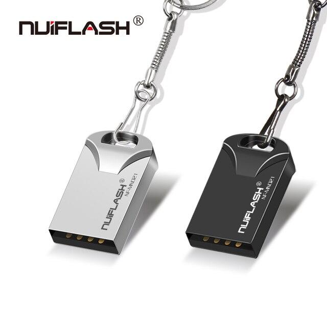 Nuiflash NHỎ pendrive 64 gb Usb ổ đĩa flash 32 gb USB2.0 pendrive 16 gb 8 gb 4 gb stick ổ 128 gb với quà tặng vòng chìa khóa mới nhất u đĩa