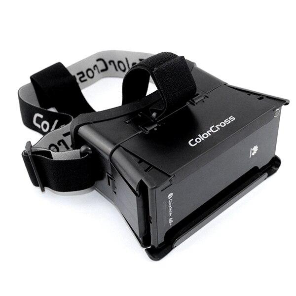 bfdaf1706a53 VR Headset Helmet Oculus Rift 2 Google Cardboard Plastic 3D video Headmount Colorcross  II For Smartphone Virtual Reality Goggles