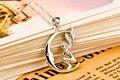 S925 plata pura de las mujeres 100% garantizado ángel de la luna colgante y collares delicada hermosa joyería para las personas regalo N0127