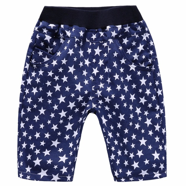 Boys' Loose Printed Shorts with Elastic Waist