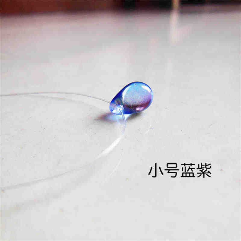 2018 Minimalist color changing water drop necklace invisible fish line pendant necklace for women Fashion statement jewelry B19