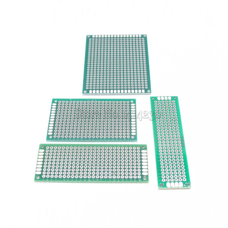 4Pcs(=1pack) Double Side Prototype PCB Breadboard 5*7 4*6 3*7 2*8cm DIY Circuit Design FR4