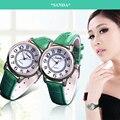 Sanda mulheres esporte ocasional relógio de quartzo das mulheres dos homens relógios top marca de luxo relógio de quartzo-relógio com pulseira de couro para unisex relógio masculino