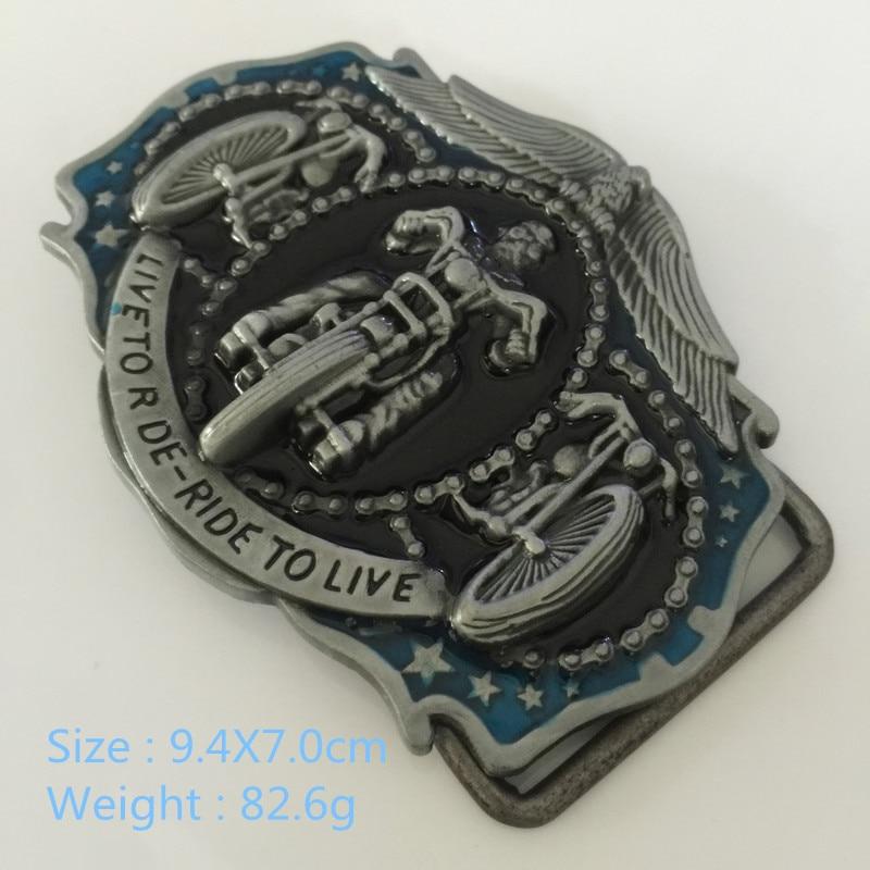 Metal Motorcycle Shape Belt Buckle Retro Western Cowboy Large Belt Buckle fit Wide 3.8-4cm for Unisex