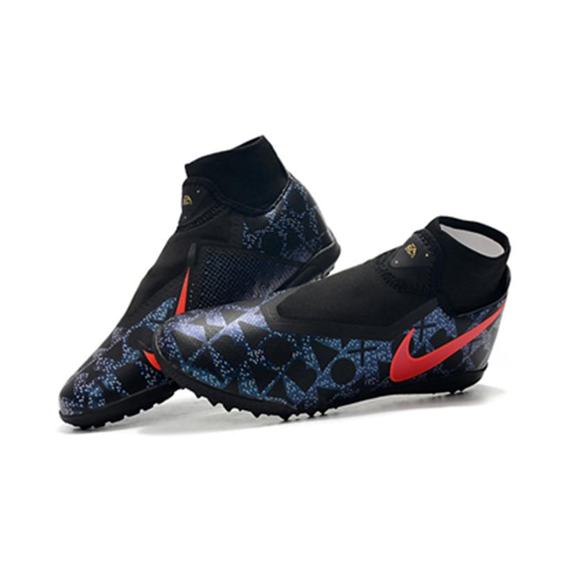Gros MLLZF haute cheville hommes en plein air Football crampons Phantom Vison académie DF TF Football chaussures pas cher vente gazon Football bottes