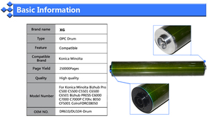 Image 5 - C5501 1X250000 Páginas Compatíveis Substituição do Tambor OPC para Konica Minolta Bizhub Pro C500 C5500 C6500 C6501 Imprensa C6000 DR610