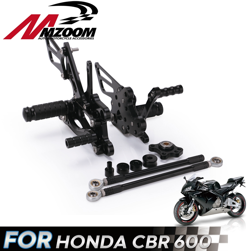 CNC Aluminum Motorcycle Adjustable Rearset Rear Set Foot Pegs Pedals Footrest For HONDA CBR 600 CBR600 RR CBR600RR 2007 2008