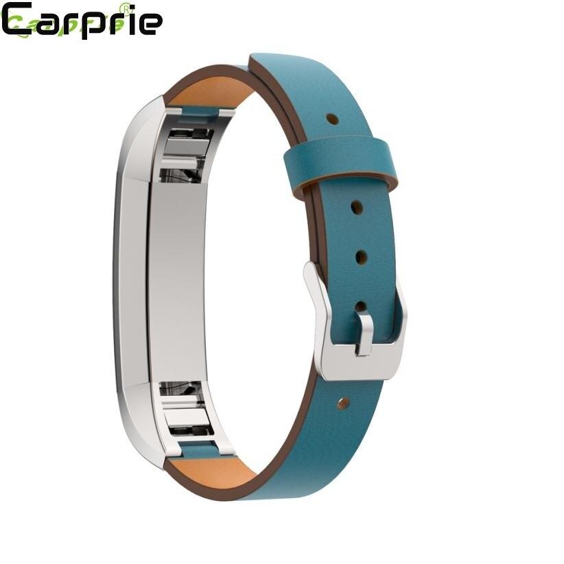 El mejor precio! 170-206mm reemplazo de cuero Correa banda pulsera para Fitbit alta HR gota de calidad superior 2apr3