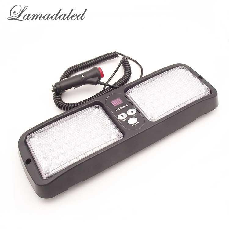 Lamadaled Dc12v Red Blue Amber White 86 Led Car Visor
