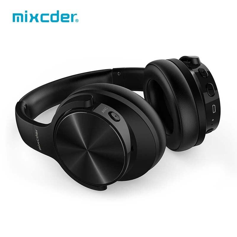 Mixcder e9 Attivo Con Cancellazione del Rumore Cuffie Senza Fili 30H Playting Tempo Sopra L'orecchio ANC Auricolare con Il Mic per il telefono
