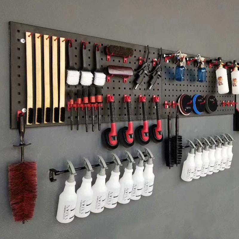 Steel Wall-Mounted Tool Parts Storage Box Garage Unit Shelving Hardware Tool Organize Box Hanging Board Components Tool Box