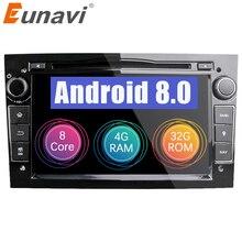 Eunavi HD 1024*600 Octa Core 2 Din Android 8,0 DVD плеер автомобиля для Opel Corsa Vectra CD Meriva Vivaro Tigra Signum навигационный GPS радиоприемник