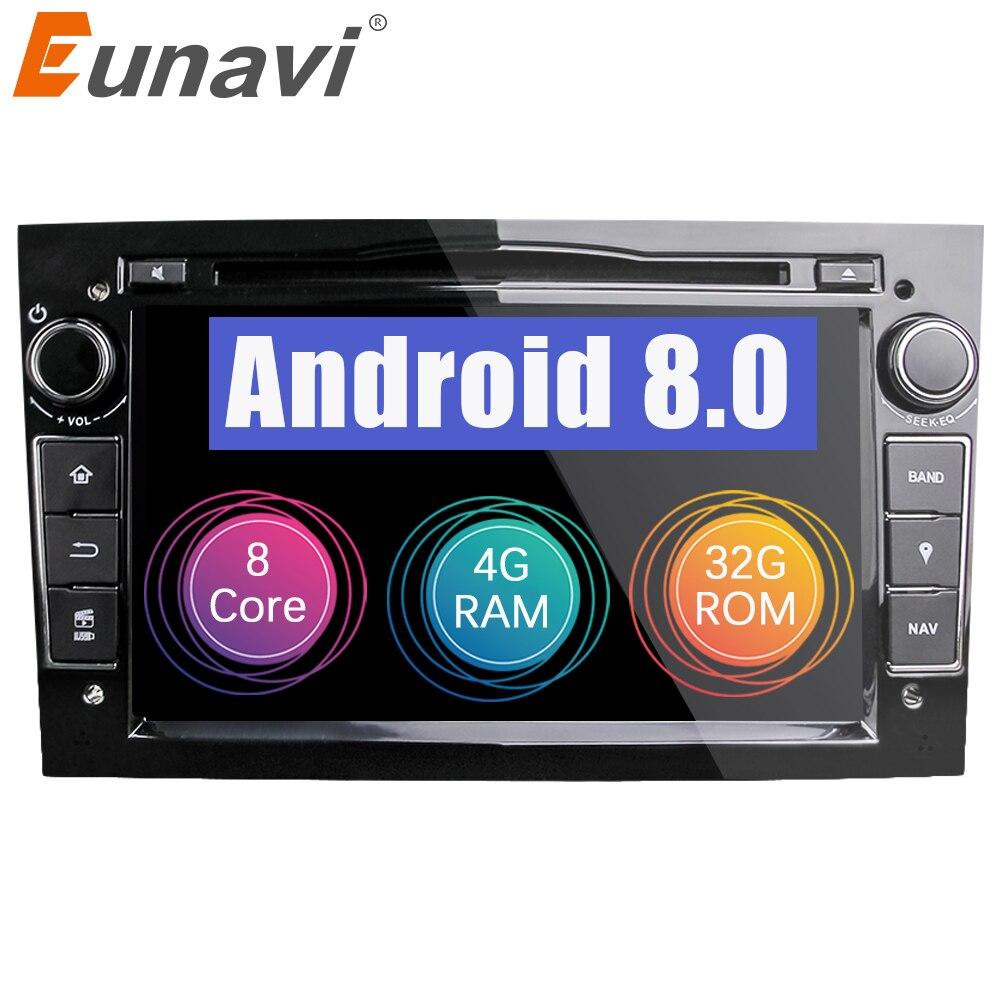 Eunavi HD 1024*600 Octa Core 2din Android 8.0 Lecteur DVD de Voiture Pour Opel Corsa Vectra C D Meriva vivaro Tigra Signum Radio GPS Navi