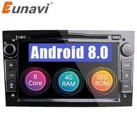 Eunavi HD 1024*600 Octa Core 2din Android 8,0 DVD плеер автомобиля для Opel Corsa Vectra C D Meriva Vivaro Tigra Signum радио gps Navi