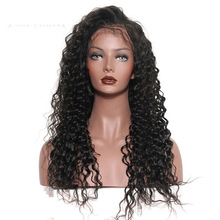 Deep Wave Lace Front Human Hair Wigs 130% Density Brazilian Remy Pre Plucked With Baby Hair Nature Hairline Sunny Queen