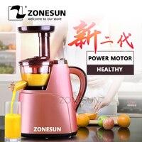 ZONESUN 2nd Generation 100% Original juicer Slow Juicer Fruit Vegetable Citrus Low Speed Juice Extractor