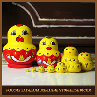 2019 new set basswood russian matryoshka dolls pink angel nesting dolls gift russian traditional feature ethnic style doll