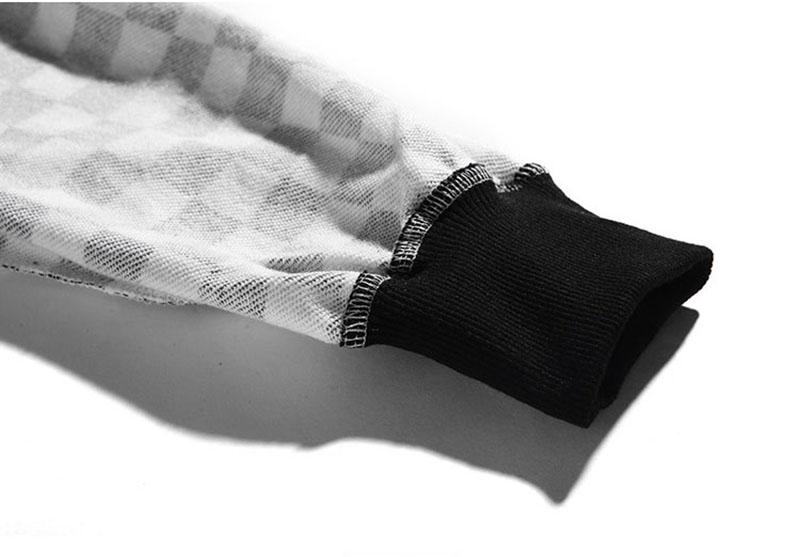 Aolamegs Pants Men Plaid Checkerboard Pants Fleece Thick Trousers Pants Mens Tactical Elastic Waist Fashion Joggers Sweatpants (12)