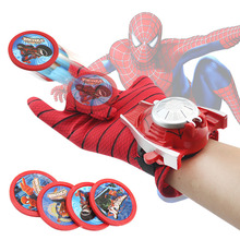 2019 New Cosplay Marvel Avengers Super Heroes Gloves Laucher Spiderman One Size Glove Gants Props Christmas Gift for Kid