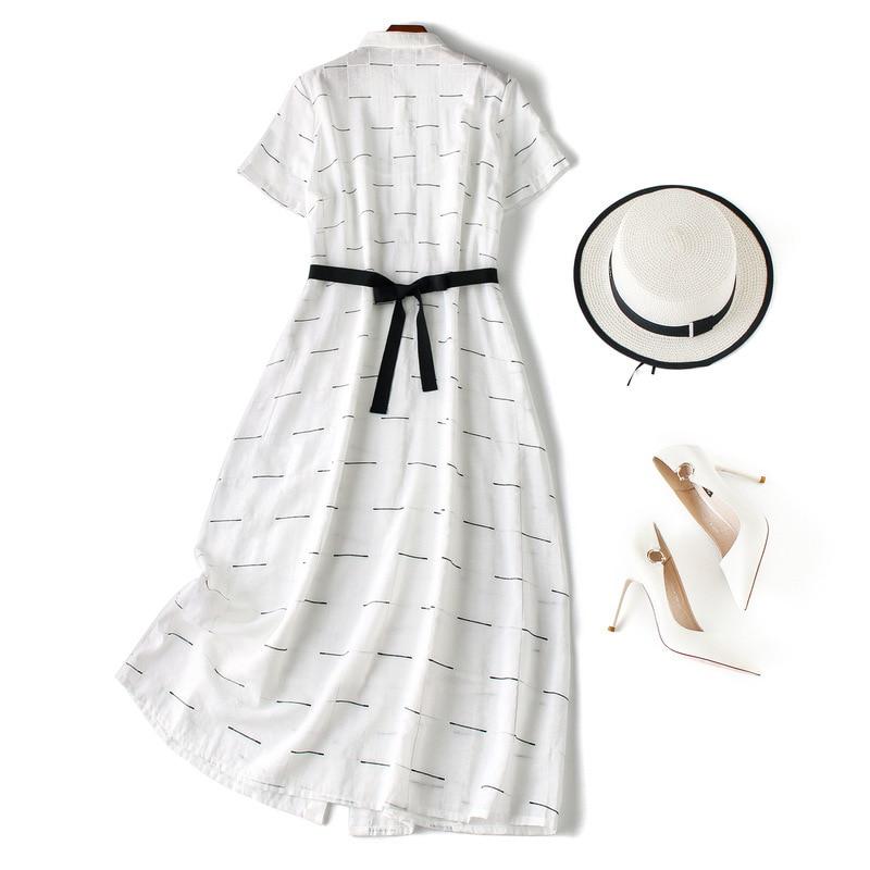Vrouwen elegante witte zomer jurk 2019 elegante korte mouw ruches ruches front casual jurken - 2