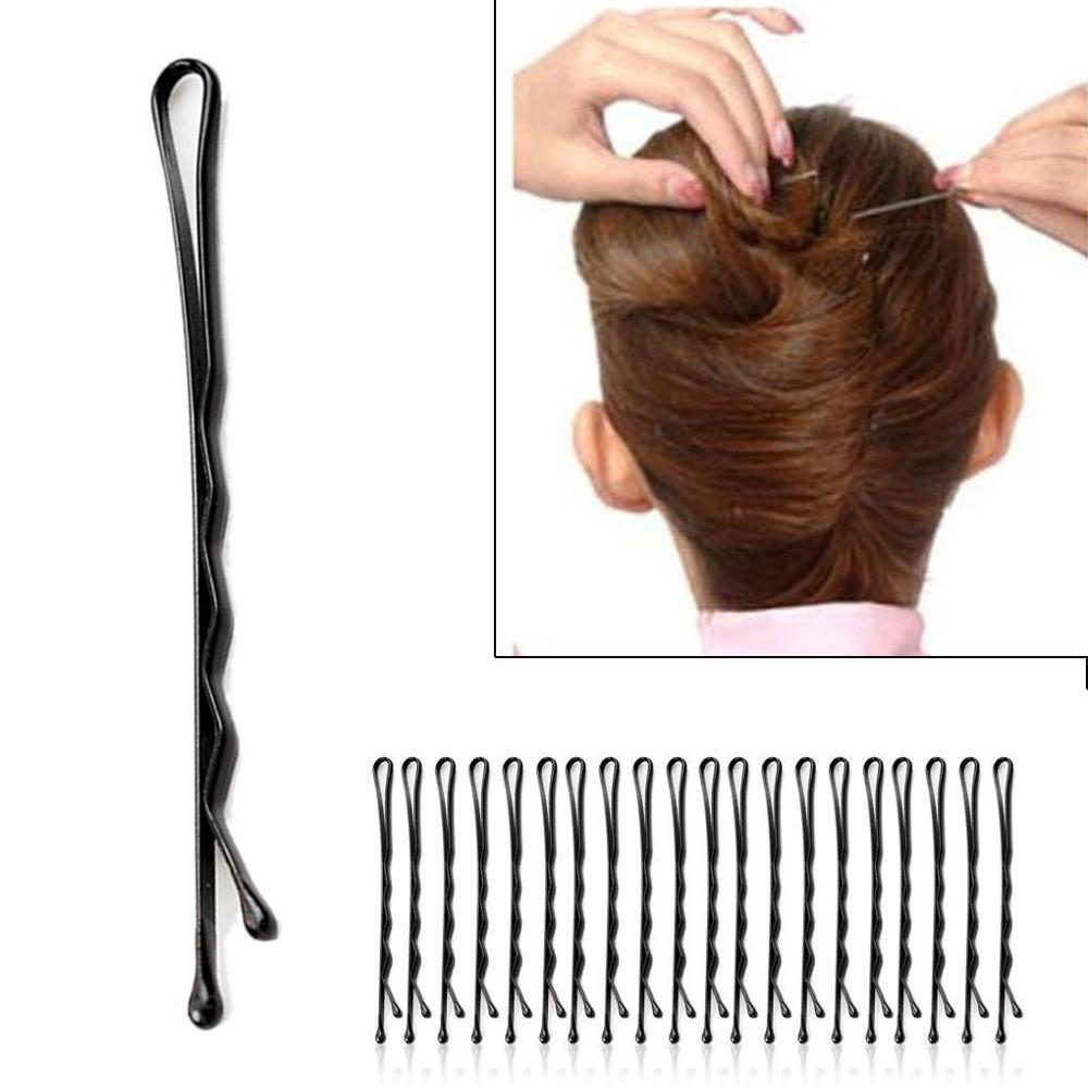 60Pcs/Set Women Lady Girl Black Metal Waved Hair Bobby Clip Salon Pin Grip Hairpin Barrette Hair Styling Accessories Tools 60pcs set women lady girl black metal waved hair bobby clip salon pin grip hairpin barrette hair styling accessories tools