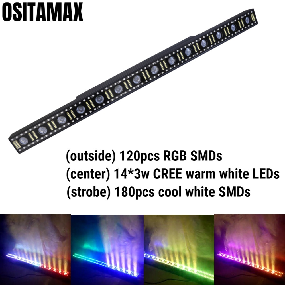 Lights & Lighting Self-Conscious Ship Free Unique Design 14x3w Cree Warm White Led Bar 5050 Smd Rgb Dmx Wall Washer Linear Light Bar Elegant In Smell Stage Lighting Effect