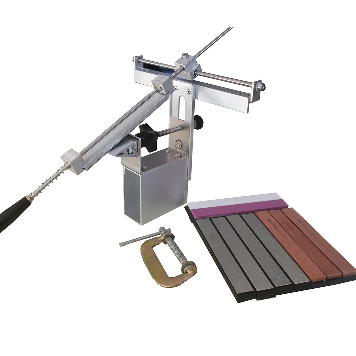 Atualização do sistema afiador de facas de cozinha profissional Pro ápice afilador cuchillo KME ferramentas de diamante pedra de amolar