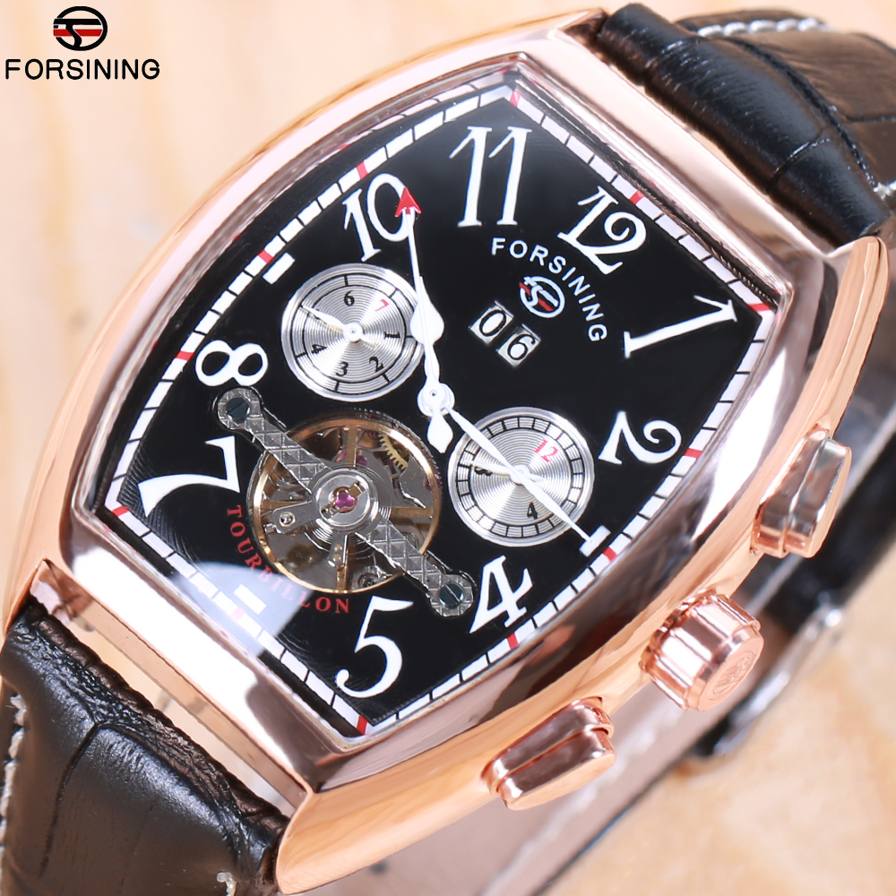 Forsining Date Month Display Rose Gold Case Mens Watches Top Brand Luxury Automatic Watch Montre Homme Clock Men Casual Watch forsining date month display rose golden case mens watches top brand luxury automatic watch clock men casual fashion clock watch
