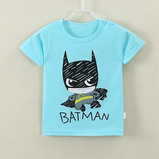 Летняя Новинка 2017 г. футболки для мальчиков и девочек детская одежда с рисунками для детей футболка с короткими рукавами Мягкий Хлопок Одежда для девочек и мальчиков футболки