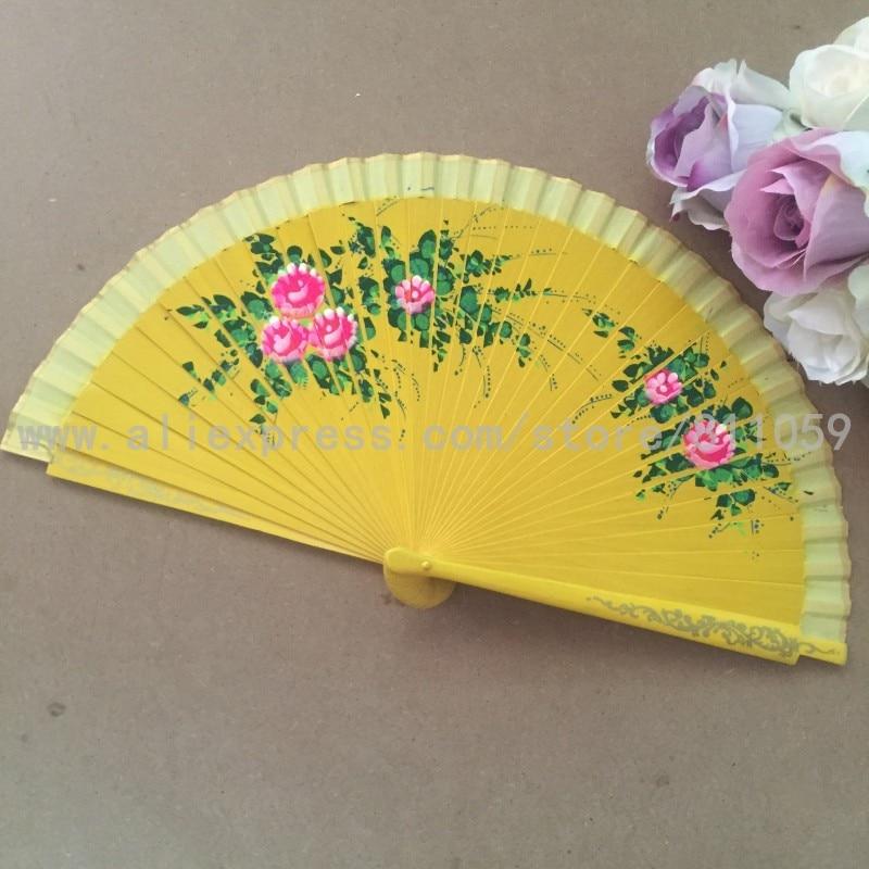무료 배송 96pcs / lot 스페인어 스타일 손으로 그린 공예 나무 팬, 나무 손 팬