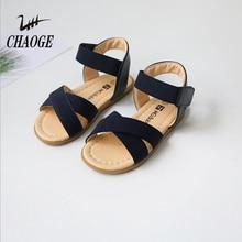 Летние девушки сандалии с эластичным ремешком говядины сухожилия удобные открытые босоножки; обувь маленьких размеров; детские туфли в римском стиле shipping1