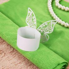 50pcs Butterfly Shape Napkin Rings Holders Wedding Banquet Dinner Decor Favor