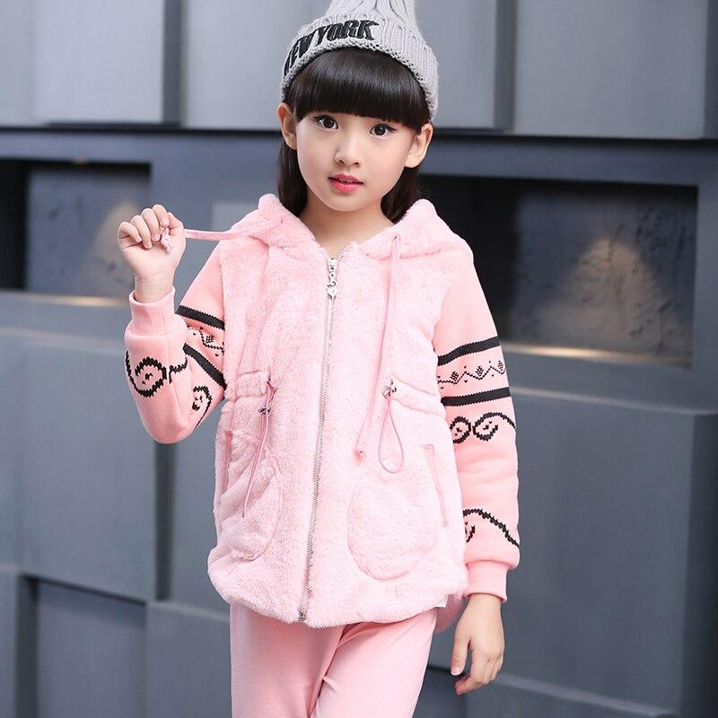 ФОТО Girls Baby Suit Childrens Clothing Set Pink Kids Suit Sport Suit Cartoon Long sleeve Shirt+ Pants 2pcs Retail