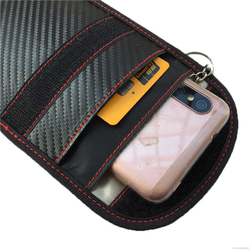 12ea287ed ... QuickDone New Faraday Storage Bag Card Key RFID Signal Blocker Case FOB Shielding  Pouch Wallet Case ...