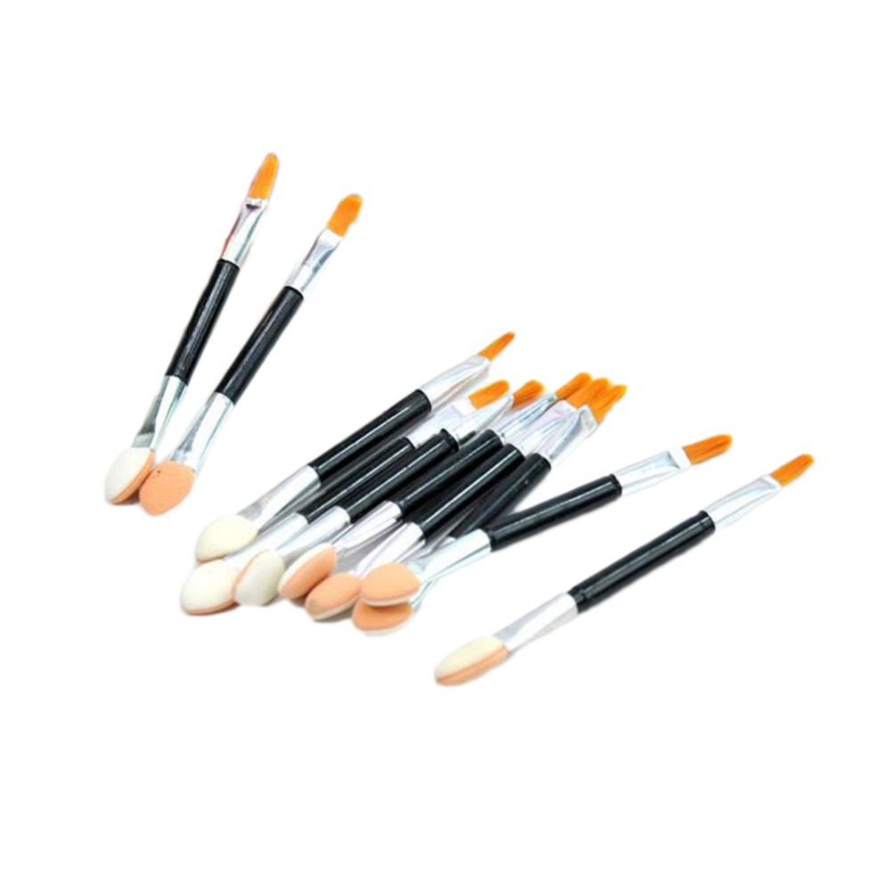 New Arrival 10pcs/set Fashion Makeup Tools Beauty Care Products Double Eye Shadow Brush Drop Shipping