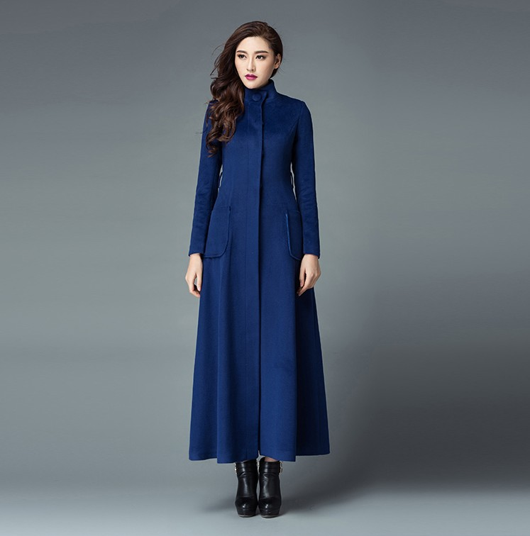 new 2016 fashion women wool coat autumn winter extra long trench coats ladies warm outwear. Black Bedroom Furniture Sets. Home Design Ideas