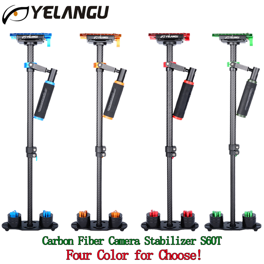 Professional Carbon Fiber 60cm handheld steadycam camera stabilizer S60T steadicam Holder video For Canon Nikon Sony