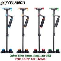 YELANGU S60T Professional Portable Carbon Fiber Mini Handheld Camera Stabilizer DSLR Camcorder Video Steadicam Better Than