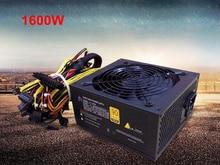 Врубовая машина 1600 Вт ПК служить Питание блок питания ATX GPU коммутации PSU Биткойн Майнер R9 380/390 RX 470/480 RX 570 1060 6 Графика карты