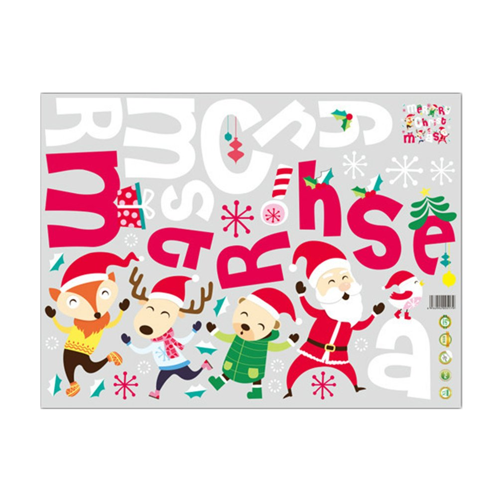 Unique merry christmas display window sticker removable - Childrens bedroom wall stickers removable ...