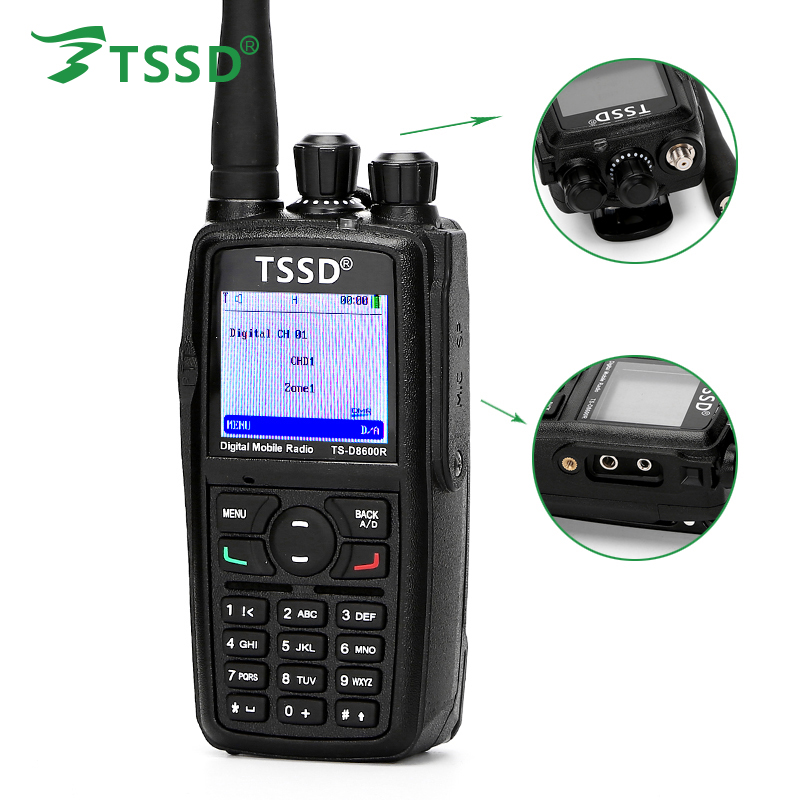New Arrival Best Price TSSD UHF 400-480Mh'z 5W TDMA T2 DMR Digital Walkie Talkie TS-D8600R