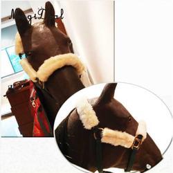 4 шт. мягкий флис лошадь Noseband Обложка Холтер защитный ремень для лошади Корона Noseband щеки
