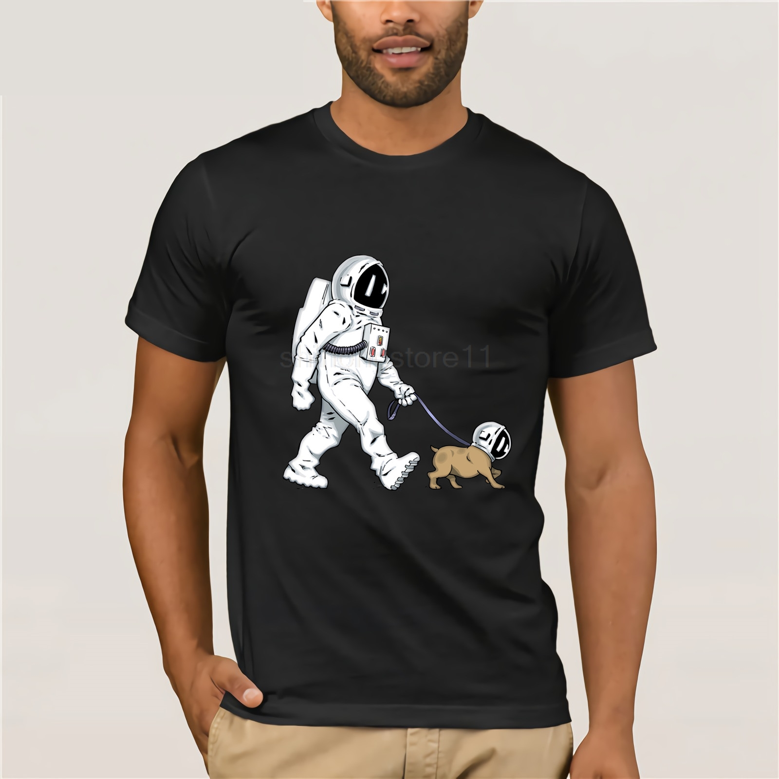 The Walking Dead T shirt men SpaceX Spaceship tshirt Astronaut Dog Cool T-shirt Rocket tshirt homme Starman Space dog Tees Tops image