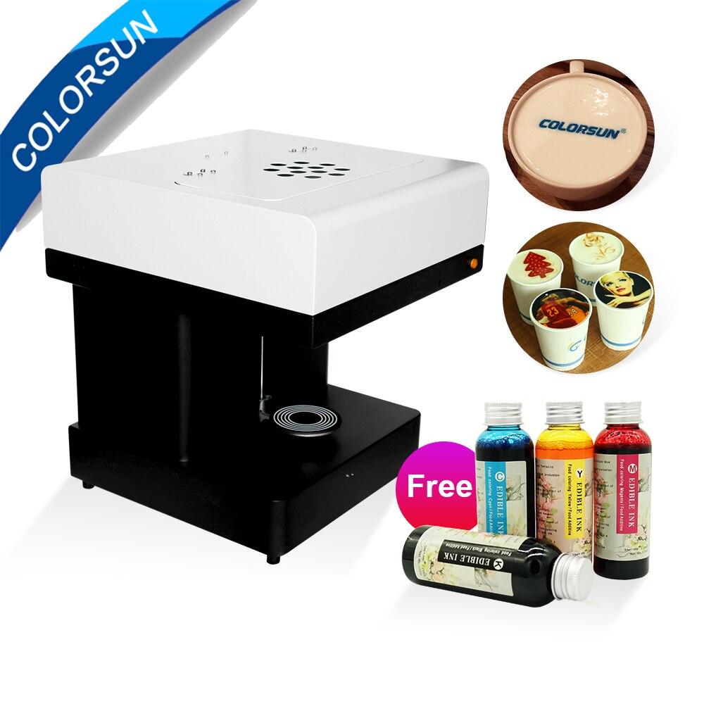 Colorsun Coffee printer Automatic Selfie Print Machine Food Printers Coffee printing machine with edible ink
