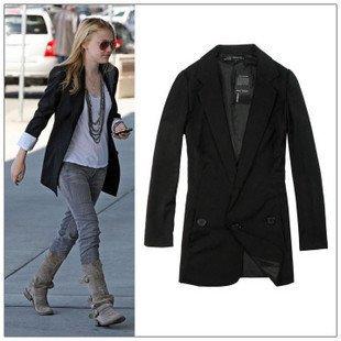 Aliexpress.com : Buy Chic Women Blazer Leisure Suit Medium long ...