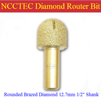 Rounded Diamond Vacuum Brazing Brazed Router Bit With 1 2 Shank FREE Shipping Marble Granite Slabs