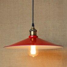 Лофт Nordic Американский производственно-складской ретро деревенский одноглавый творческий ресторанах Лампы E27 красный Люстра